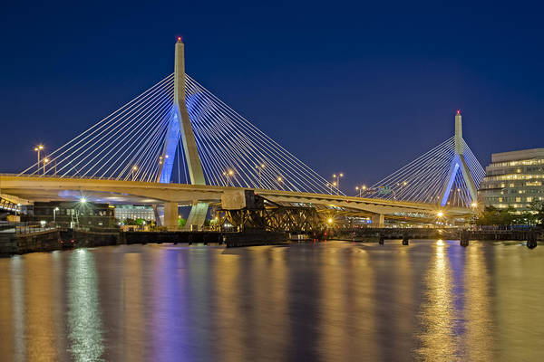 Capitalism Wall Art - Photograph - The Zakim Bridge by Susan Candelario