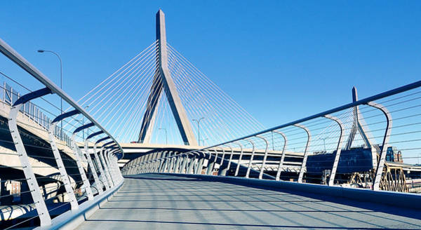 Photograph - The Zakim In Blue by Joanne Brown