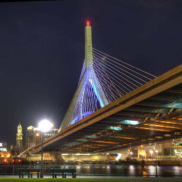 Photograph - The Zakim Over Paul Revere Park - Boston by Joann Vitali