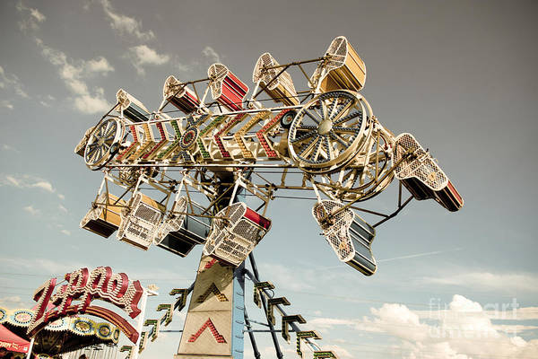 Fair Ground Photograph - The Zipper by Colleen Kammerer