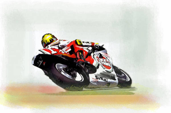 Painting - The Zone Kevin Schwantz by Iconic Images Art Gallery David Pucciarelli