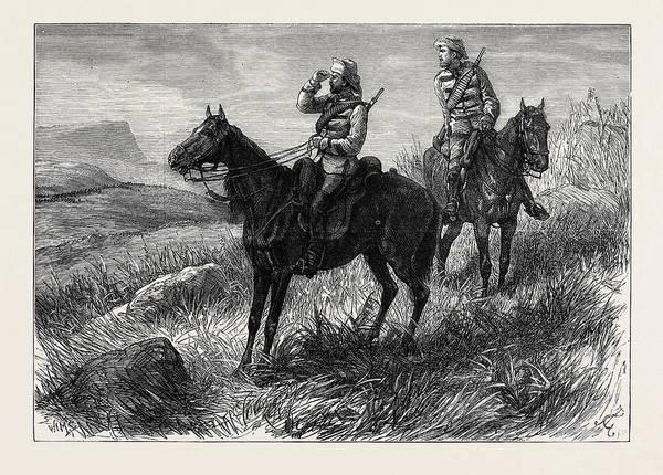 Duty Drawing - The Zulu War Frontier Light Horse On Vidette Duty by English School