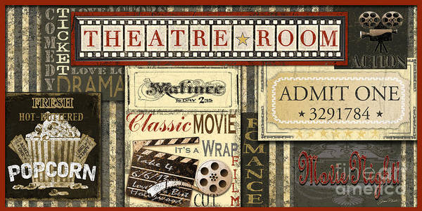 Home Digital Art - Theatre Room by Jean Plout