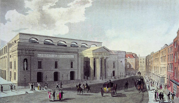 Playhouse Photograph - Theatre Royal, Covent Garden, 1809 Colour Litho by English School