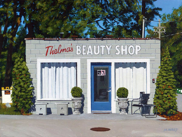 Beauty Salon Painting - Thelma's by Michael Ward