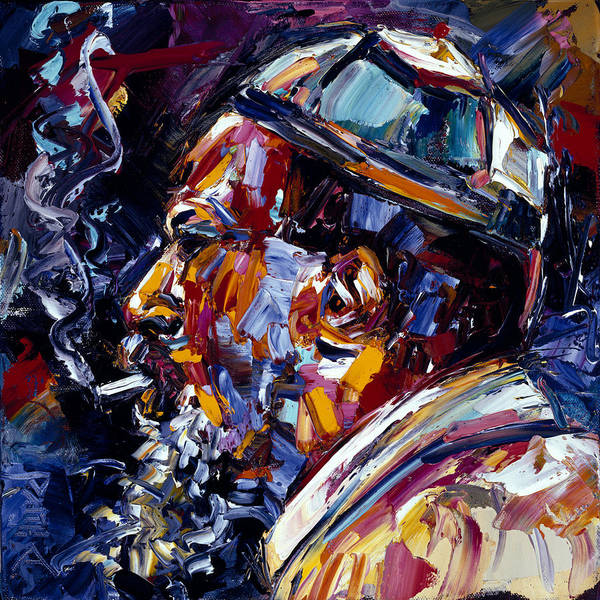 Wall Art - Painting - Thelonious Monk Jazz Faces Series by Debra Hurd