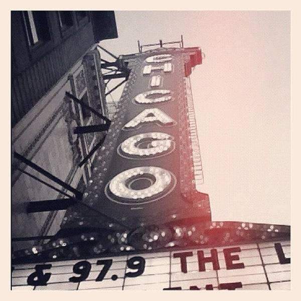 City Scenes Wall Art - Photograph - #theloop #chicago #chicagotheatre by Mike Maher