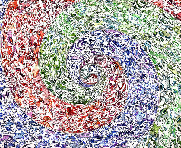 Swirl Drawing - Themeless Process 11 by Dave Migliore