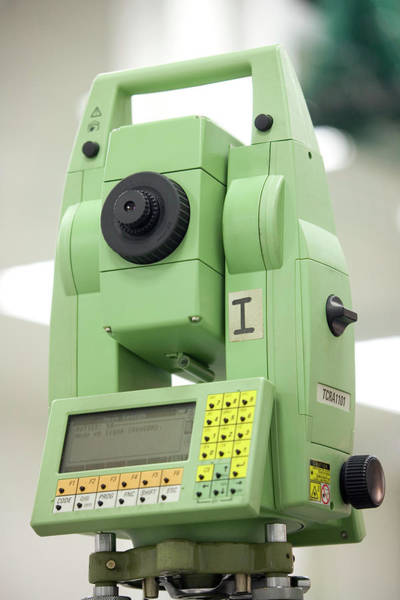 Wall Art - Photograph - Theodolite For Construction Of Cms by Adam Hart-davis/science Photo Library