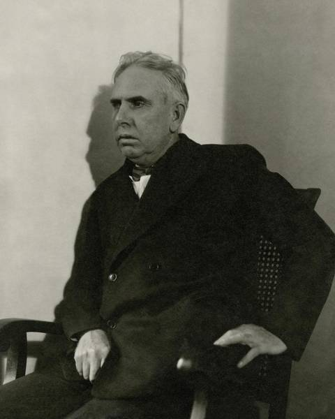 Furniture Photograph - Theodore Dreiser Sitting by Charles Sheeler