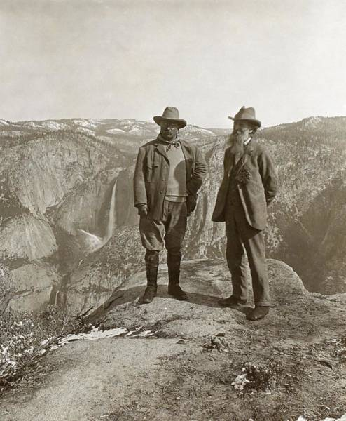 Geomorphology Wall Art - Photograph - Theodore Roosevelt And John Muir by Library Of Congress