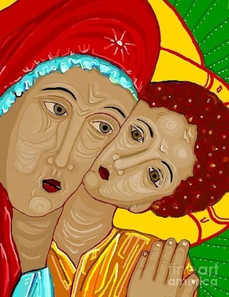Virgin Digital Art - Theotokos by Sarah Loft