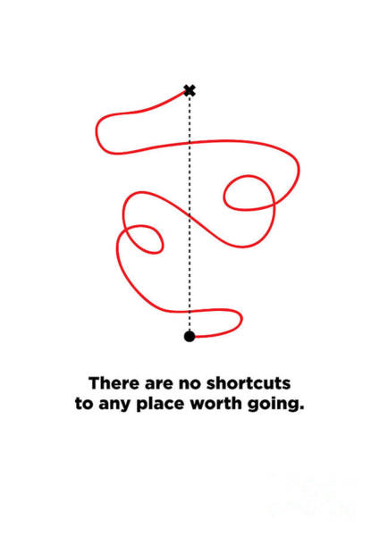 Effect Digital Art - There Are No Shortcuts To Any Place by Orange Vectors