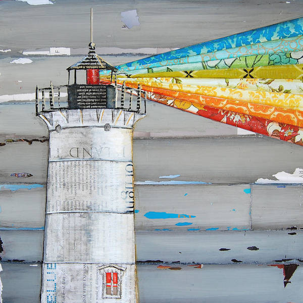 Beach Collage Painting - There Is A Light That Never Goes Out by Danny Phillips
