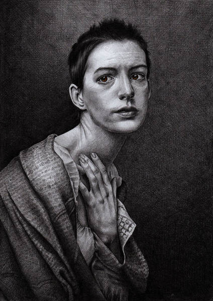 Miserable Drawing - There Was A Time by Monika Jasnauskaite