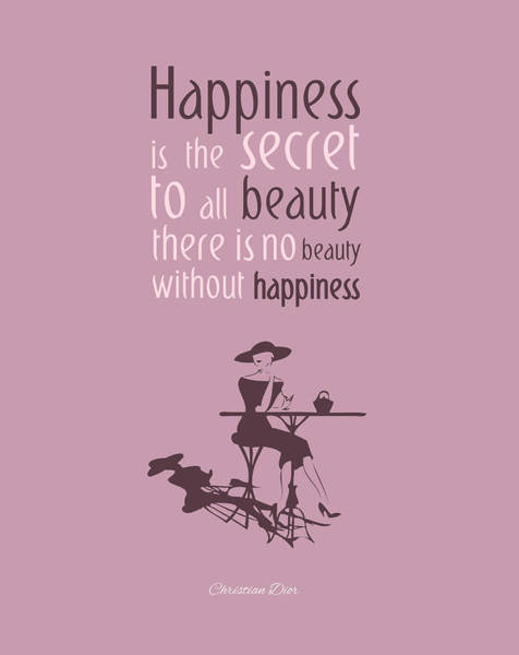 Dior Digital Art - There's No Beauty Without Happiness by Gina Dsgn