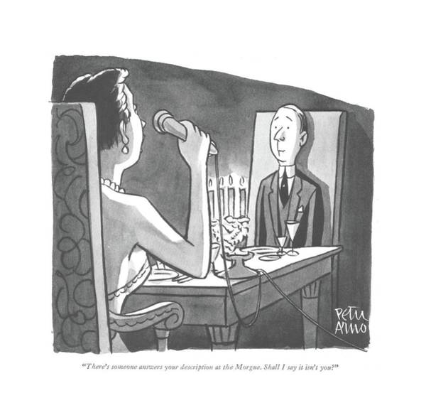 Drawing - There's Someone Answers Your Description by Peter Arno