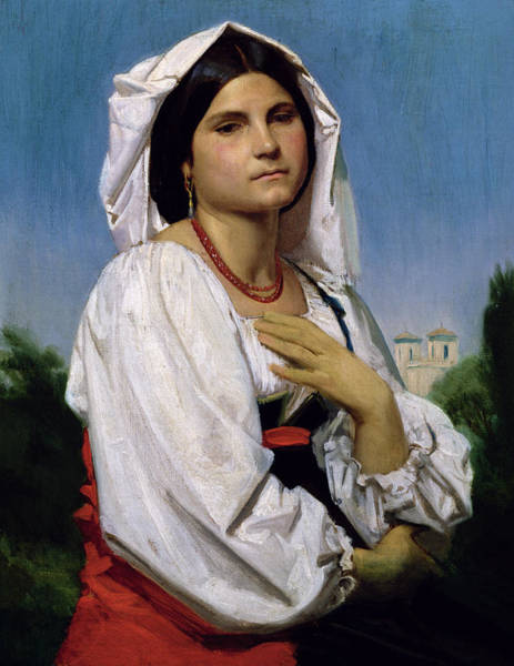 Wall Art - Painting - Therese by William-Adolphe Bouguereau