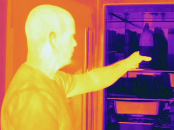 Wall Art - Photograph - Thermogram Male Reaches Into Refrigerator by Science Stock Photography/science Photo Library
