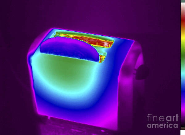 Infrared Radiation Photograph - Thermogram Of A Toaster by GIPhotoStock