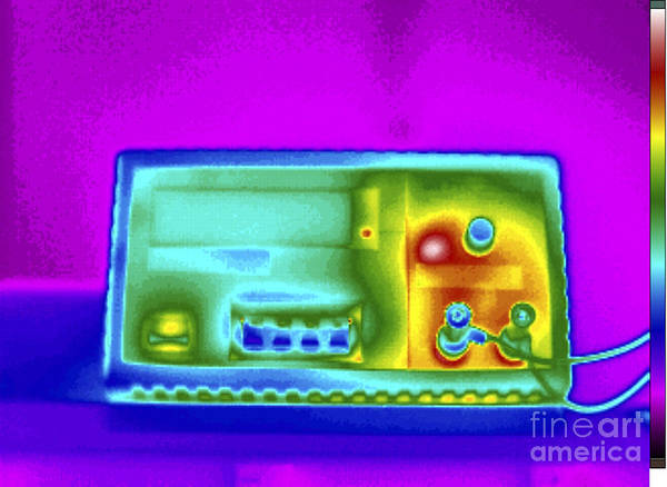 Infrared Radiation Photograph - Thermogram Of Dc Power Supply by GIPhotoStock