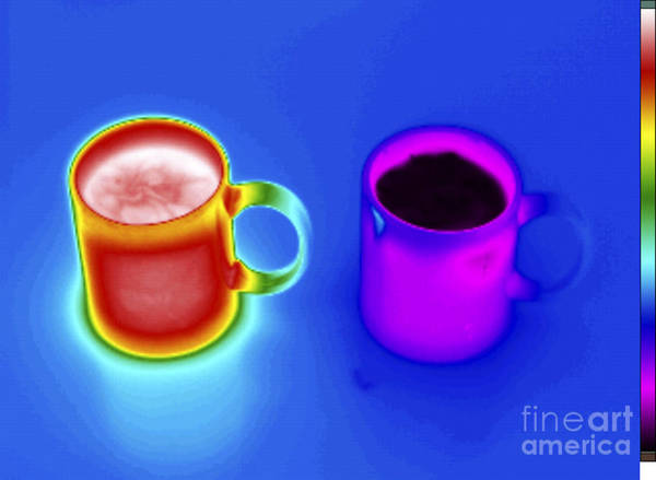 Infrared Radiation Photograph - Thermogram Of Hot And Cold Water by GIPhotoStock