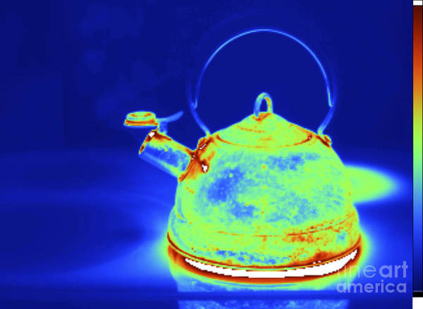 Infrared Radiation Photograph - Thermogram Of Kettle Boiling by GIPhotoStock