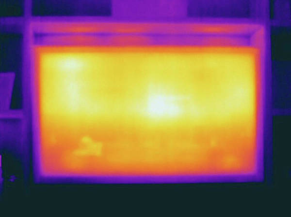 Thermal Photograph - Thermogram Of Plasma Television Screen by Science Stock Photography/science Photo Library