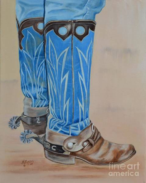 Mary Rogers Painting - These Boots Are Made For Workin' by Mary Rogers