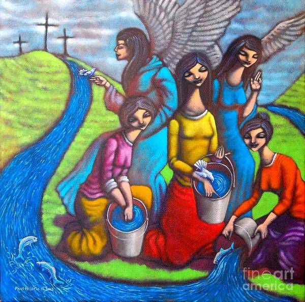 Wall Art - Painting - These Three Remain by Paul Hilario