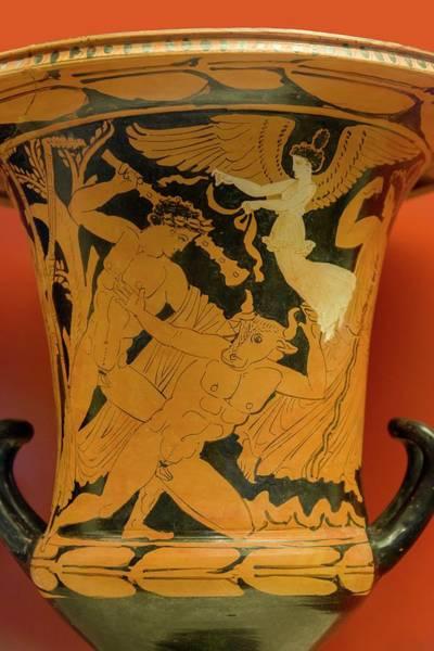 Wall Art - Photograph - Theseus Killing The Minotaur by David Parker/science Photo Library