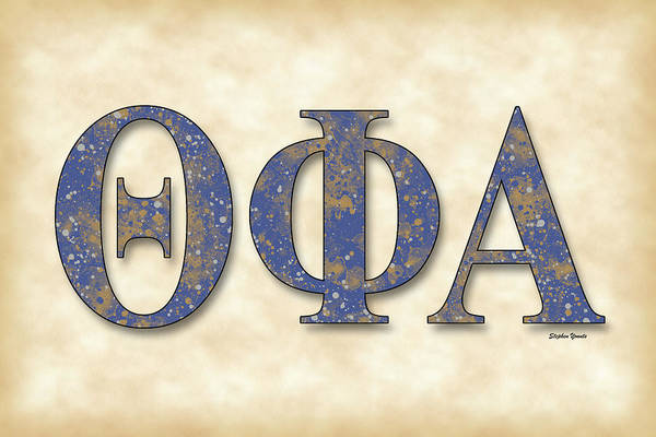 Indiana University Alumni Digital Art - Theta Phi Alpha - Parchment by Stephen Younts