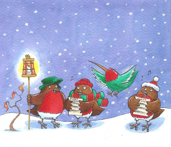 Carol Singing Photograph - They Always Forget The Words by MGL Meiklejohn Graphics Licensing