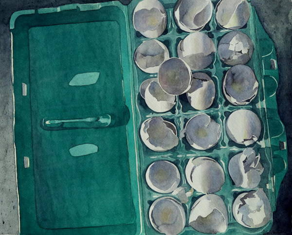 Protein Painting - They Asked Me For Omelettes by Jeffrey S Perrine