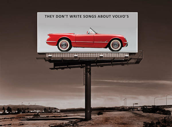 Corvette Photograph - They Dont Write Songs by Mark Rogan