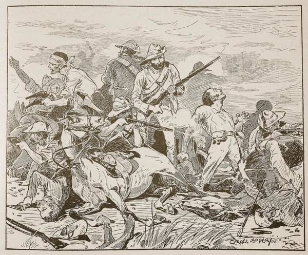Soldier Drawing - They Fought On Grimly, Illustration by George Soper