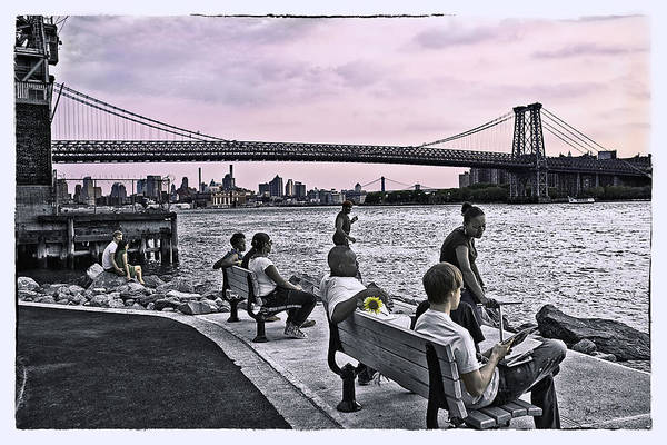 Wall Art - Photograph - They Gathered At The Williamsburg Bridge - Brooklyn - New York by Madeline Ellis