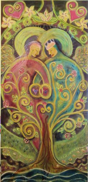 Angel Oak Painting - They Grow In Love by Deborah Carlson