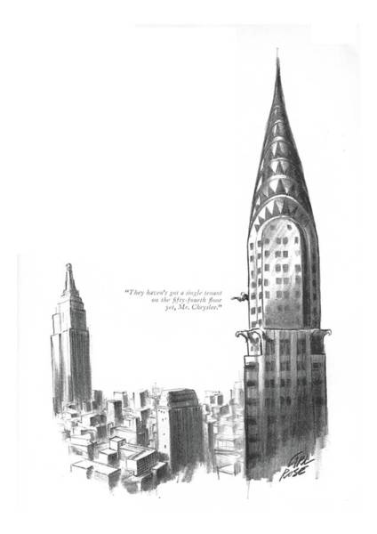 Manhattan Drawing - They Haven't Got A Single Tenant by Carl Rose