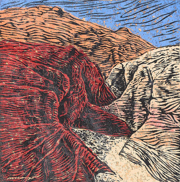Slot Canyon Mixed Media - They Let You In by Maria Arango Diener