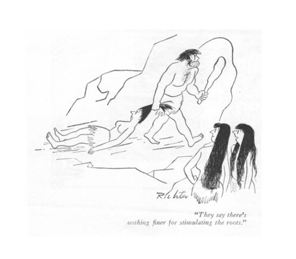 Carry Drawing - They Say There's Nothing ?ner For Stimulating by Mischa Richter