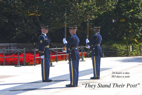 Honor Guard Photograph - They Stand Their Post by Paul W Faust -  Impressions of Light