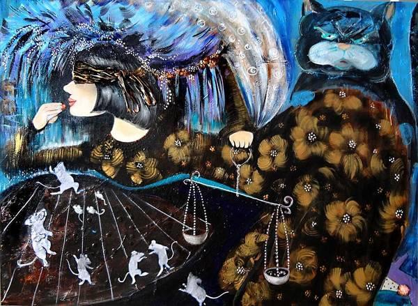 Acrilic Painting - They Think It Is A Game by Tatiana Tatti Lobanova