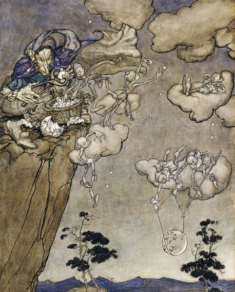 Wall Art - Painting - They Were Ruled By An Old Squaw Spirit by Arthur Rackham
