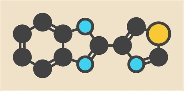 Preservative Wall Art - Photograph - Thiabendazole Molecule by Molekuul