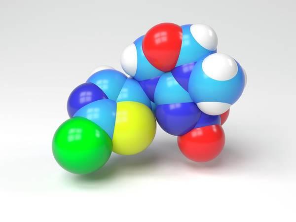 Biochemistry Photograph - Thiamethoxam Molecule by Indigo Molecular Images