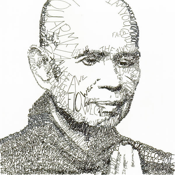 Compassion Wall Art - Drawing - Thich Nhat Hanh by Michael Volpicelli
