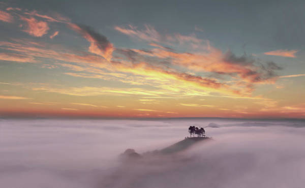 Dorset Wall Art - Photograph - Thick Fog Over Hill by Colourful Images That Celebrate Dorset And Beyond.