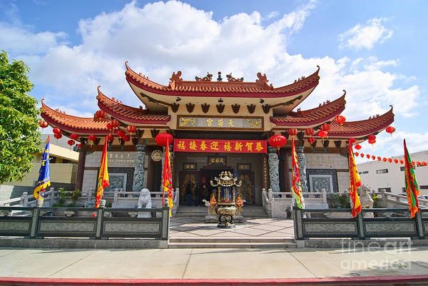 Chinese New Year Photograph - Thien Hau Temple A Taoist Temple In Chinatown Of Los Angeles. by Jamie Pham