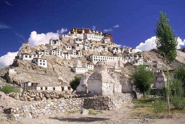 Wall Art - Photograph - Thiksay Monastary Ladakh India by Ralph Davis